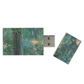 Fairy Night USB flash drive Wood USB 2.0 Flash Drive
