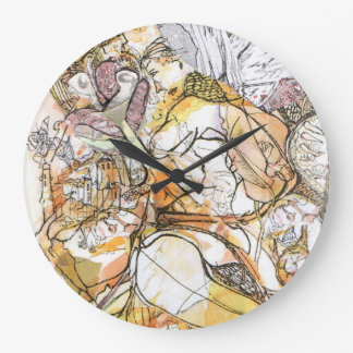 Fairy Nouveau believers of fairies in the garden Large Clock