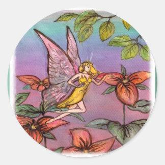 fairy of the birch classic round sticker