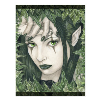Fairy of the Dark Forest postcard