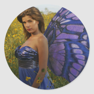 Fairy of the Field Classic Round Sticker