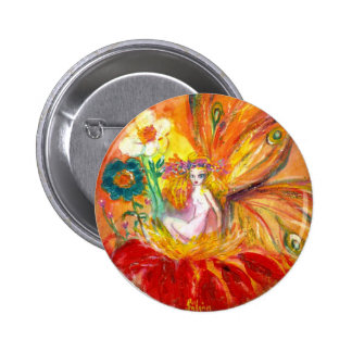 FAIRY OF THE FLOWERS 6 CM ROUND BADGE