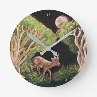 Fairy of the Forest `Roe Deer Buck' Wall Clock