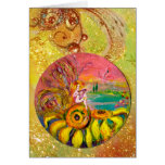 FAIRY OF THE SUNFLOWERS yellow pink blue Card