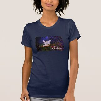 Fairy on a Mushroom Design 3 - Believe T-Shirt