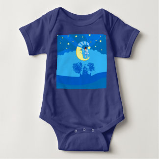 fairy on moon baby bodysuit