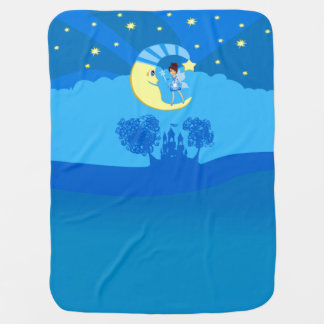 fairy on moon buggy blanket