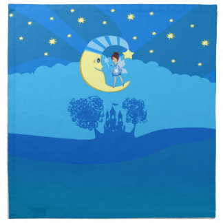 fairy on moon napkin