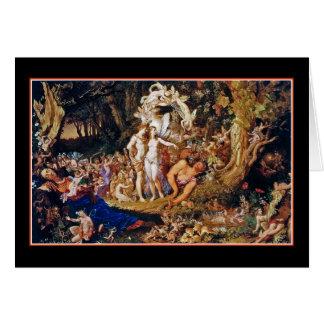 "Fairy Painting ""Oberon and Titania"" Greeting Card"