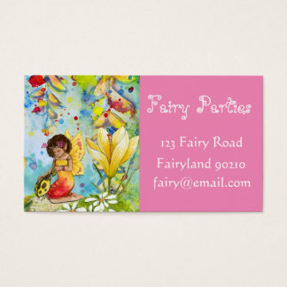 Fairy Party Planner Fairy parties business Business Card