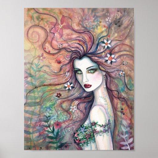 Fairy Poster Goddess of Flowers Molly Harrison