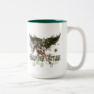Fairy - Pretty Green Fairy with Celtic Cross Mugs