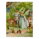 Fairy Prince and Thumbelina in the Magic Wood Post Card