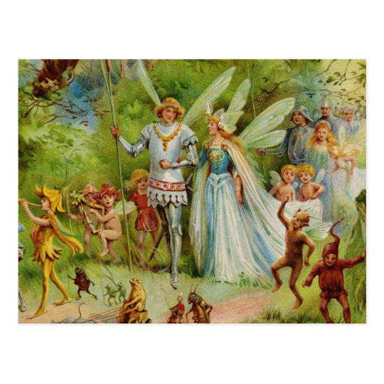 Fairy Prince and Thumbelina in the Magic Wood