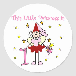Fairy Princess 1st Birthday Tshirts and Gifts Stickers