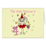 Fairy Princess 4th Birthday  Tshirts and Gifts Greeting Card