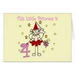 Fairy Princess 4th Birthday  Tshirts and Gifts Greeting Card