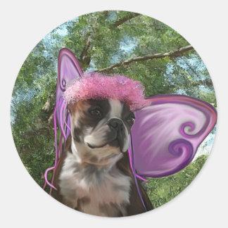 Fairy princess Amby Round Stickers