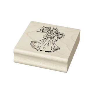 Fairy Princess And Butterfly Rubber Stamp
