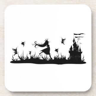 Fairy Princess and Castle Cork Coaster