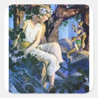 Fairy Princess and the Gnomes Square Sticker