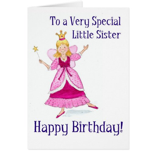 Birthday Card For My Little Sister