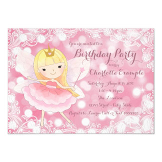 Fairy Princess Birthday Party 11 Cm X 16 Cm Invitation Card