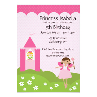 Fairy Princess Castle Birthday Card