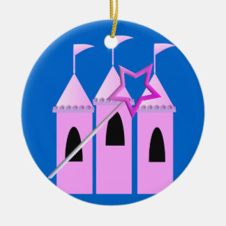 Fairy Princess Castle & Magic Wand Christmas Ornament