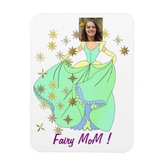 Fairy Princess, Dress & Stars - with YOUR Photo - Magnet