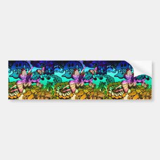 Fairy Princess Flying with Butterflies Bumper Sticker