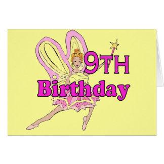 Fairy princess Girl 9th ninth birthday card
