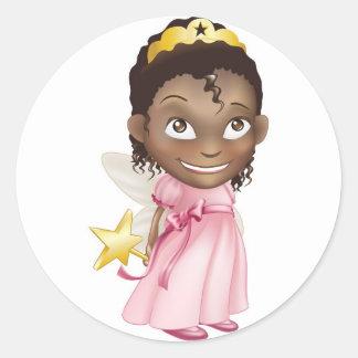fairy princess girl round stickers