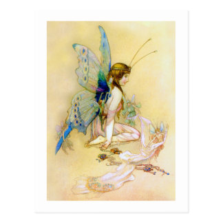 Fairy Princess Is Dressed By Pixies Post Cards