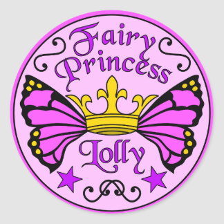 Fairy Princess Lolly Stickers