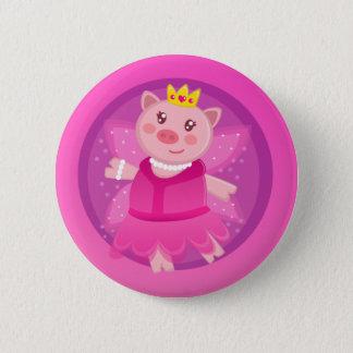 Fairy Princess Piggy Button