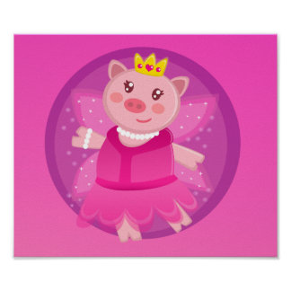 Fairy Princess Piggy Poster