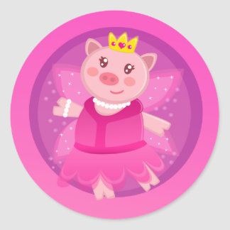 Fairy Princess Piggy Sticker