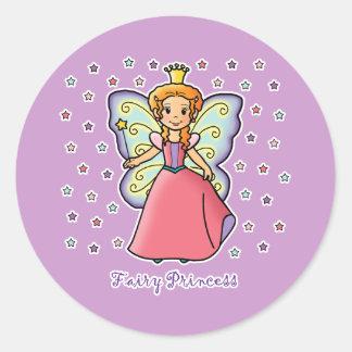 Fairy Princess Round Stickers