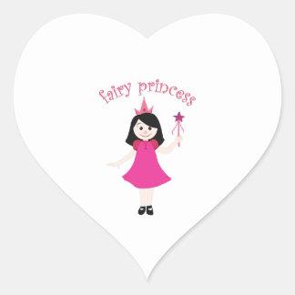 Fairy Princess Heart Stickers