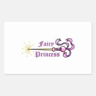 FAIRY PRINCESS RECTANGULAR STICKER