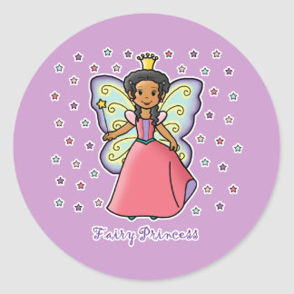 Fairy Princess Round Sticker