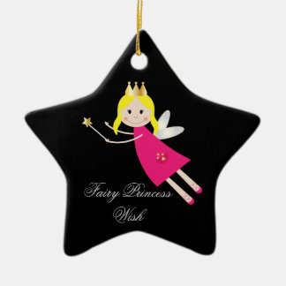 Fairy Princess Wish hanging ornament, gift idea Ceramic Star Decoration