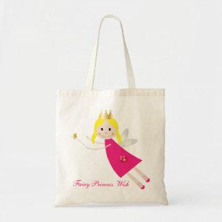 Fairy Princess Wish shopping tote bag, gift idea Budget Tote Bag