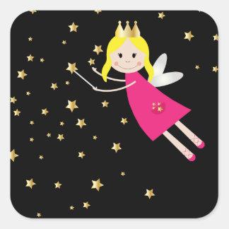 Fairy princess wish sticker, stickers, gift idea square sticker