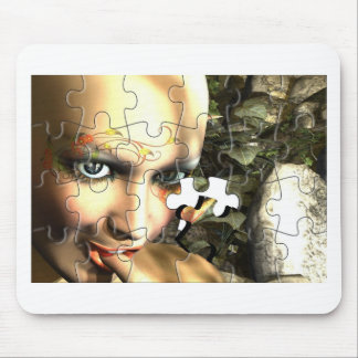 Fairy Profile jigsaw Mouse Pad
