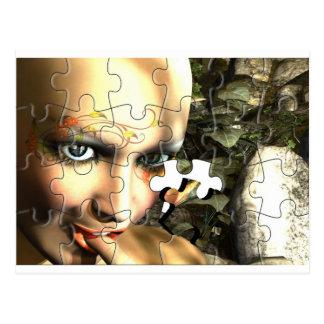 Fairy Profile jigsaw Postcard