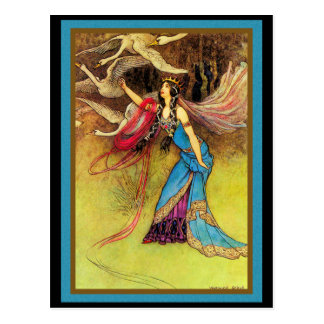 Fairy Queen and Birds Postcard