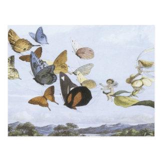 Fairy Queen Takes An Airy Drive,1870 Postcard