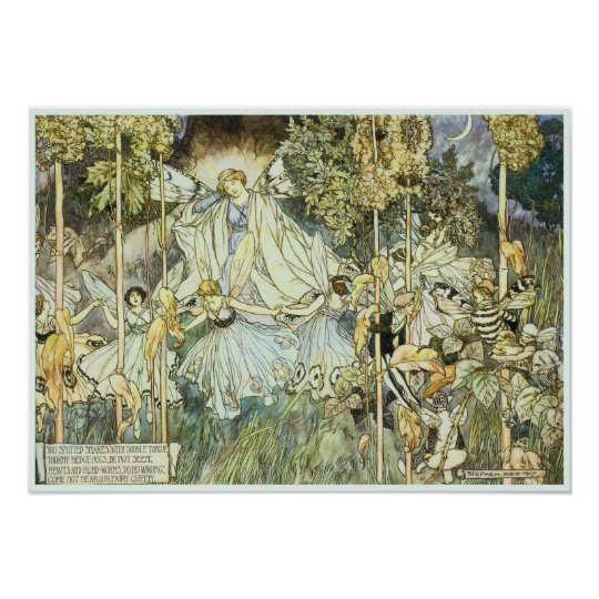 Fairy Queen Victorian Art Poster